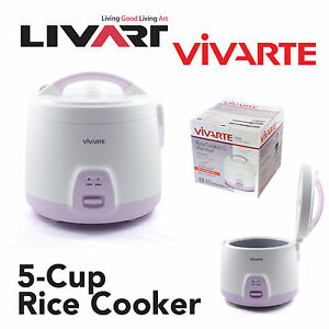 5 Cup Rice Cooker by Vivarte - Non Stick Cooking Pot BRAND NEW