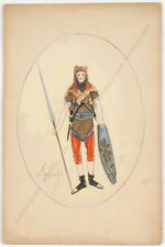 "Cora McGeachy, ""Variete Costume"", Watercolor, Early 20th Century"