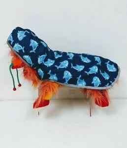 NWT Dog Pet Reflective Raincoat Poncho Sharks SMALL     HG25