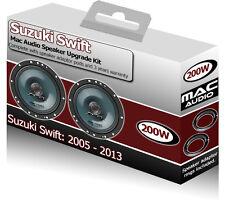 Suzuki Swift Front Door speakers Mac Audio car speaker kit 200W + adapter pods
