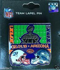 Lapel Pin NFL 2015 Super Bowl XLIX 49 New England Patriots - Seattle Seahawks
