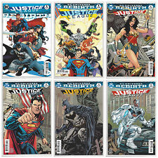 JUSTICE LEAGUE REBIRTH #1 JL 1 2 3 4 5 (1st PRINT) SET OF 6 BOOKS 2016 NM