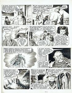 Steel Claw! 1969, original comic artwork, large page 17 x 21.5 ins, with comic