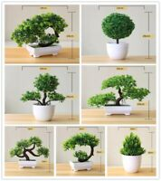 Artificial Plants Potted Bonsai Green Tree Plants Fake Flowers Potted Ornaments