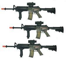 Set of 3 Airsoft Colt Rifle M4 Spring Air RIS Gun Soft Powered Smoke NOT WORKING