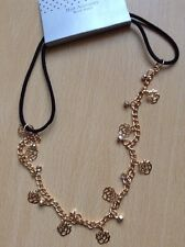 A Beautiful Gold Rose And Diamanté Design Chain Head/Hair/Kylie Band