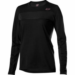 Fox Racing Women's Ranger Dri Release Long Sleeve L/S Jersey Black