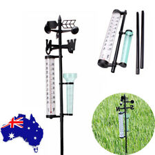 Outdoor Garden Weather Station Meteorological Measurer Vane Tool Wind Rain Gauge