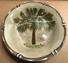 Tabletops Unlimited Bora Bora Salad Plate Palm Tree Design C