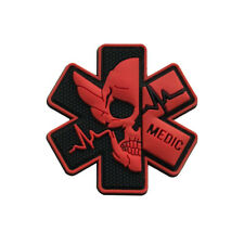 PVC PARAMEDIC Skull Patch Tactical Military Morale Rubber Medic Medical Badge