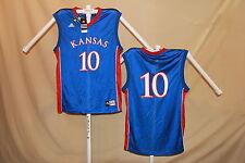 KANSAS JAYHAWKS  Adidas  #10   Basketball JERSEY   2XL   NWT    blue  $53 retail
