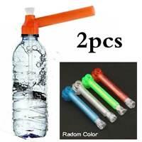 2x Portable Bottle Bong Tobacco Pipe Thread Converter Water Top Puff Hookah AU