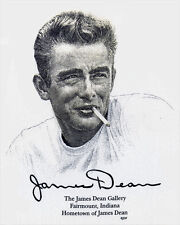 JAMES DEAN GALLERY T-SHIRT Classic Face With Cigarette FAIRMOUNT INDIANA