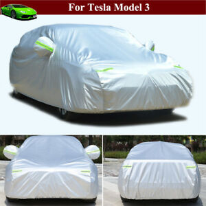 Full Car Cover Durable Waterproof Car Cover SUV for Tesla Model 3 2018-2021