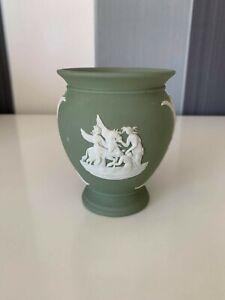 Wedhwood Vintage Antique Jasperware  Green Vase
