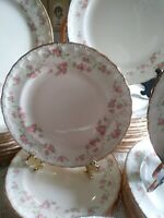 """(4) POPE GOSSER """"FLORENCE"""" Sterling PATTERN #3025 AMERICAN FINE CHINA bowls X 4"""