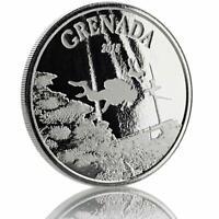 2018 1 oz Grenada Diving Paradise EC8 Silver Coin .999 Fine Silver BU #A486