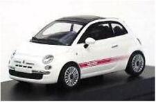 Fiat 500 Abarth White 2007 Minichamps 1:64 640121702 Modellino