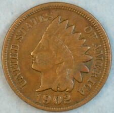1902 Indian Head Cent Vintage Penny Old US Coin Liberty Full Rims Fast S&H 512