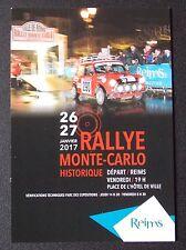 Carte postale Rallye Monté Carlo Historique 2017 départ de Reims Austin Mini