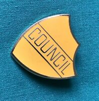 Badge  Council Shield Shaped  vintage enamel badge