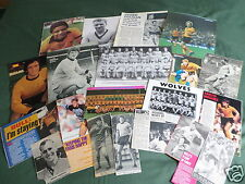 WOLVERHAMPTON FOOTBALL CLUB - CLIPPINGS/ CUTTINGS PACK-PICTURES AND ARTICLES