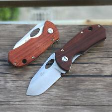 Enlan EL-05 Outdoor Pocket Liner Lock Folding Knife 8Cr13Mov Steel Wooden Handle