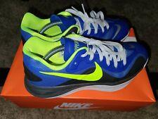 Nike Hyperfuse 2012 Men Low Basketball Shoes Men's 10 Blue/Volt-Black 555034-402