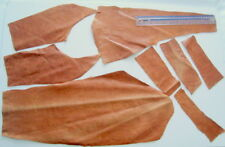 TAN GLAZED HIDE LEATHER REMNANTS-- #3188 - LARP, PURSES, ELBOW PATCHES, REPAIRS