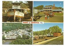 VIC - c1970s POSTCARD - BRIDGE HOTEL, RAILWAY STATION & WHARF, PORT OF ECHUCA
