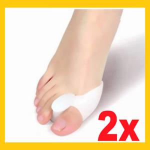 2x Silikon Zehenspreizer ( 1 Paar ) Hallux Valgus Korrektur Ballenschutz Fuß