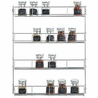 VonShef 4 Tier Spice Holder Rack Pantry Organizer Chrome Plated Herbs Spices