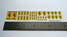 Ferrari GLOSSY water transfer decals aufkleber set