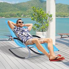 Rocking Chair Chaise Rocker Patio Lounge Furniture Blue