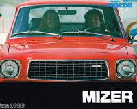 1976 Mazda MIZER Sales Brochure / Catalog / Pamphlet