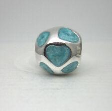 Authentic Pandora #790543EN18 Love You Bead - Light Blue/Aqua **RETIRED**