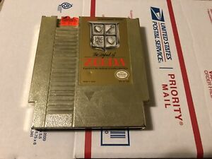 The Legend of Zelda NES (Nintendo Entertainment System, 1987) Gold Cartridge