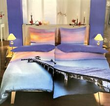 4 tlg Baumwolle MAKO Satin Partner Bettwäsche 135x200 Bettbezug Bettwaren Steg