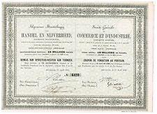 Commerce et d'Industrie, C.A., 1863, unc./cps.