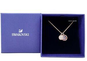 New SWAROVSKI Rose Gold Tahlia Doble Pink Gemstone Pendant Necklace 5564908