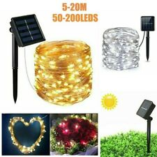 50-200 LED Solar String Light Lights Copper Wire Fairy Outdoor Garden Party