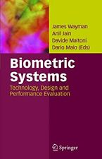Biometric Systems: Technology, Design and Performance Evaluation Hardback Book