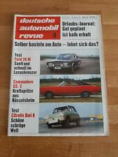 Deutsche Automobil Revue 04/1970 Opel Commodore A GS/E - Ford 26 M-Citroen Ami 8