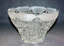 Kristallglas Schale aufw. geschliffen Jugendstil