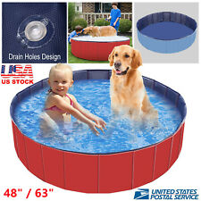 New ListingFoldable Anti-slip Pet Dogs Kids Swimming Pool Collapsible Summer Bathing Pools