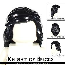 LEGO Minifigure Hair BLACK 59363 Female Girl Mid-Length Braid Sides Princess