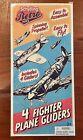 Schylling Retro 4-Pack Lightweight Glider Planes- Classic Fighter Airplane