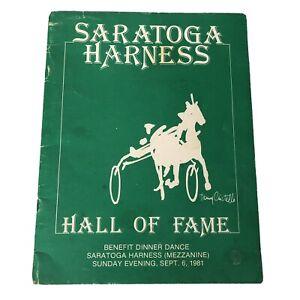 Saratoga Harness Horse Racing 1981 Hall of Fame Souvenir Program Book Booklet