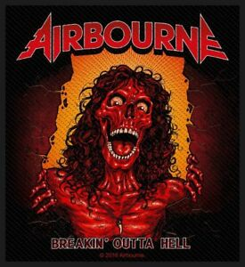 """AIRBOURNE - """"BREAKIN' OUTTA HELL"""" - WOVEN SEW ON PATCH"""