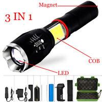 Multifunction T6 Led COB Flashlight Torch Tail Super Magnet Design Working Lamp